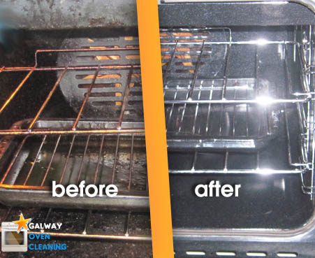 before and after oven cleaning galway